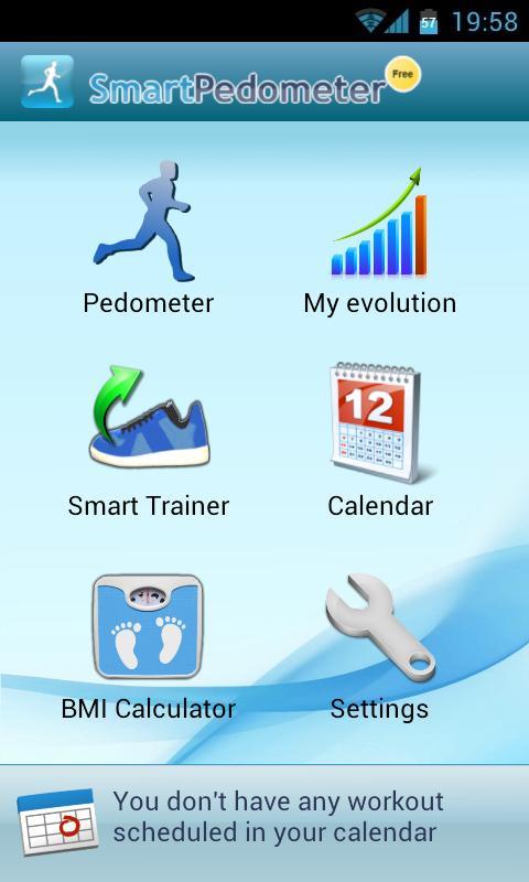 Smart Pedometer - screenshot