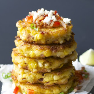 Sweet Corn and Green Chili Fritters Recipe