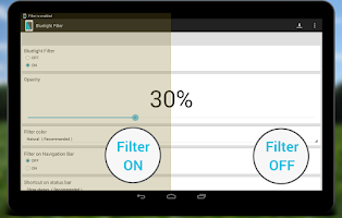 Screenshot of Bluelight Filter for Eye Care