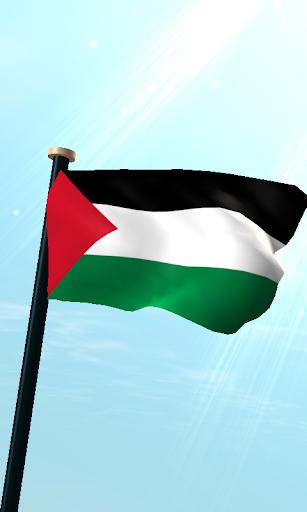 巴勒斯坦旗3D免費動態桌布