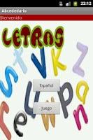 Screenshot of Spanish alphabet