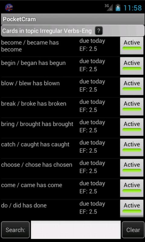 PocketCram Flash Cards - screenshot