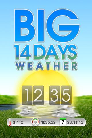 BIG 14-days Weather Clock
