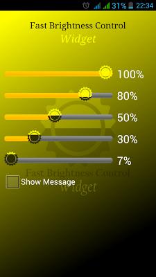 Fast Brightness Control Widget - screenshot