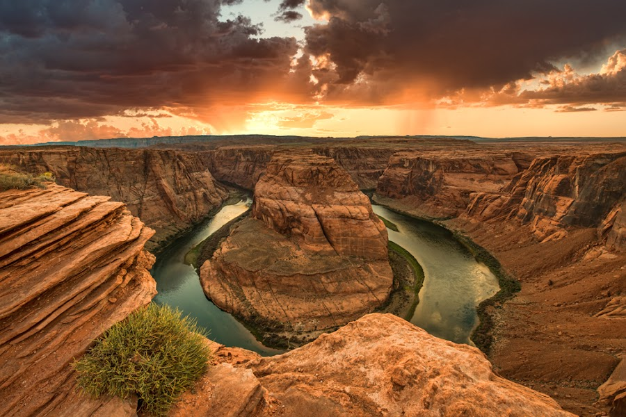Sunset at Horseshoe Canyon by Russell Heller - Landscapes Sunsets & Sunrises ( colorado river, horseshoe canyon, sunset, page arizona, Earth, Light, Landscapes, Views,  )