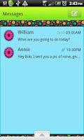 Screenshot of GO SMS THEME/ColorfulRetro
