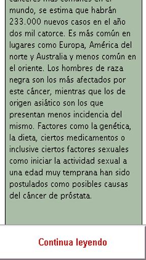 CANCER de prostata cuidados