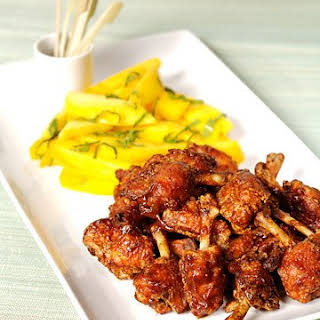 Thai Fried Chicken Wings with Hot-and-Sour Sauce and Salted Mango.