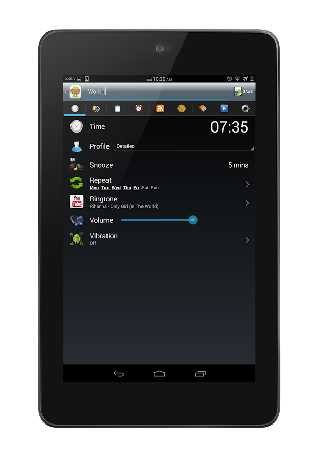 zZzAlarm - alarm clock - screenshot