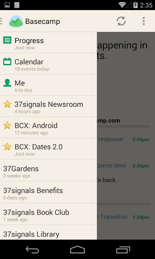 Basecamp - Official App - screenshot