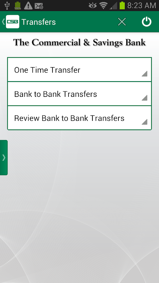 The Commercial & Savings Bank - screenshot