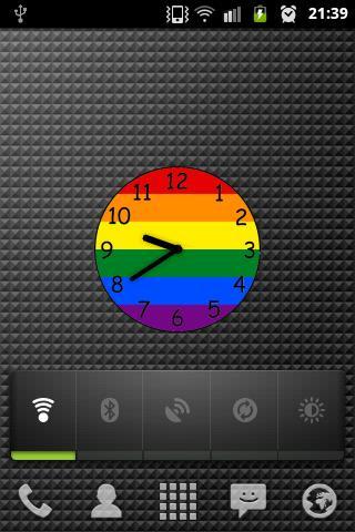 Rainbow gay and lesbian clock