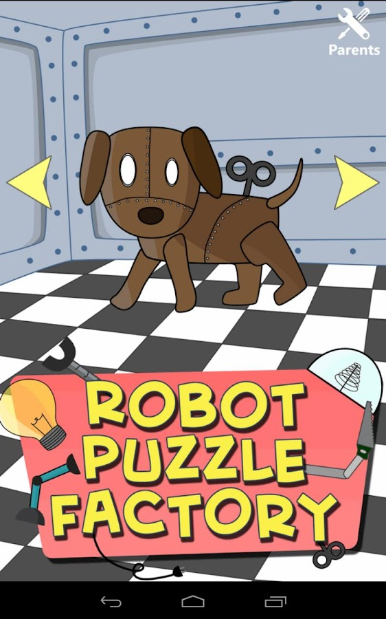 Robot Puzzle Factory for kids - screenshot