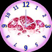 Pink Diamonds Analog Clock