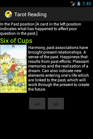 Tarot Reading - screenshot