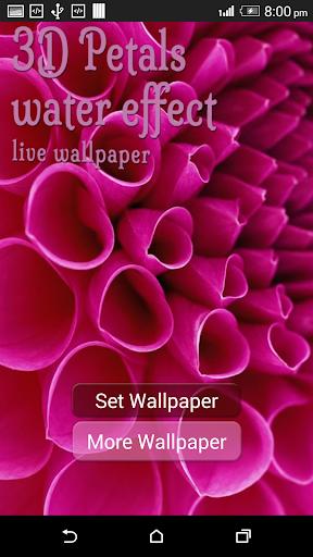 3D Petals Water Effect LWP