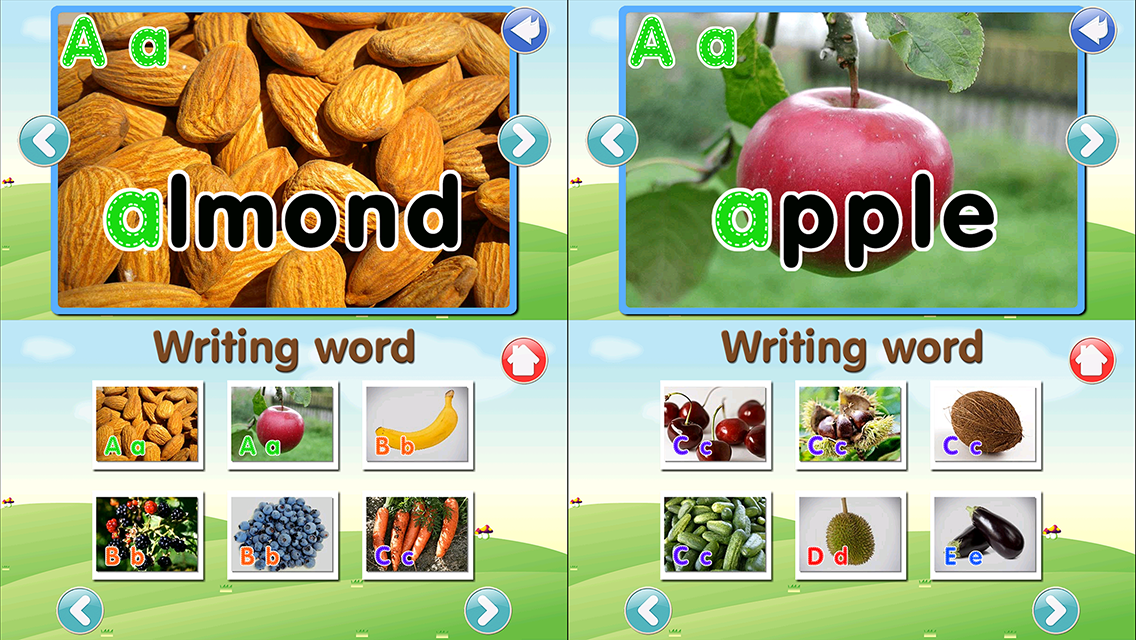 ABC Fruit Veg Flashcard Write- screenshot