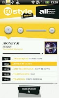 Screenshot of 50 style music