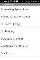 Screenshot of Traffic Fines India