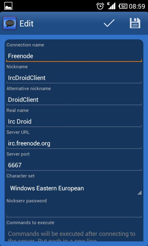 IrcDroid- screenshot