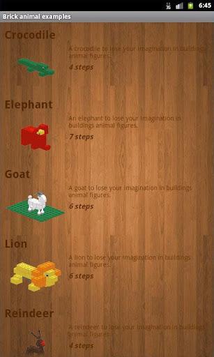 Brick animal examples