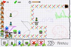Screenshot of Doodle Defense Lite