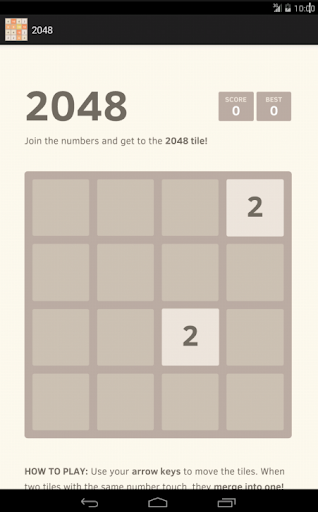 2048 New Number puzzle game