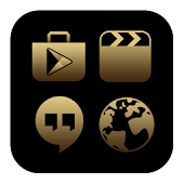 BlackGold Theme -Icon Pack, HD