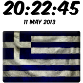Greece Digital Clock