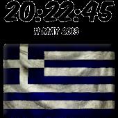 Greece Digital Clock