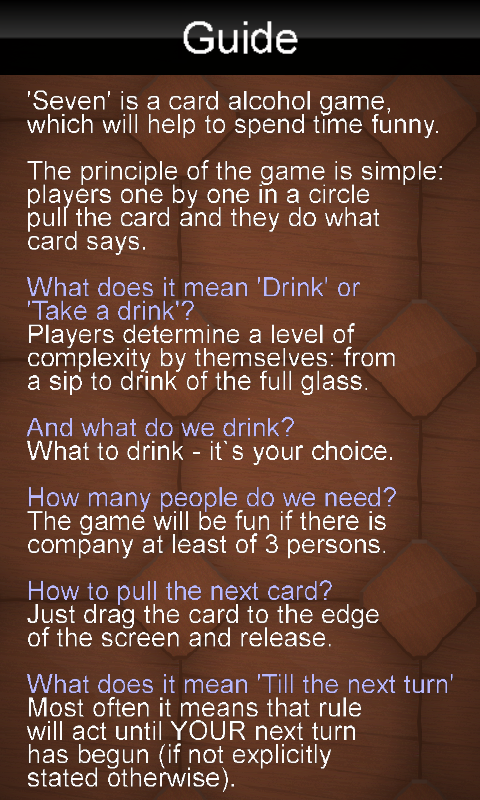 Drinking Game - screenshot