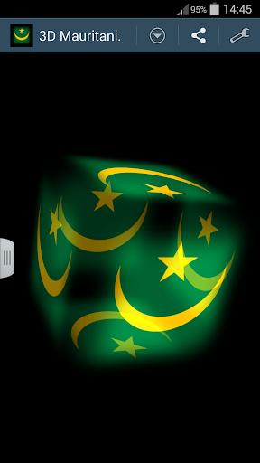 3D Mauritania Cube Flag LWP