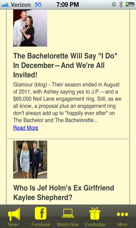 The Bachelorette Fan App - screenshot