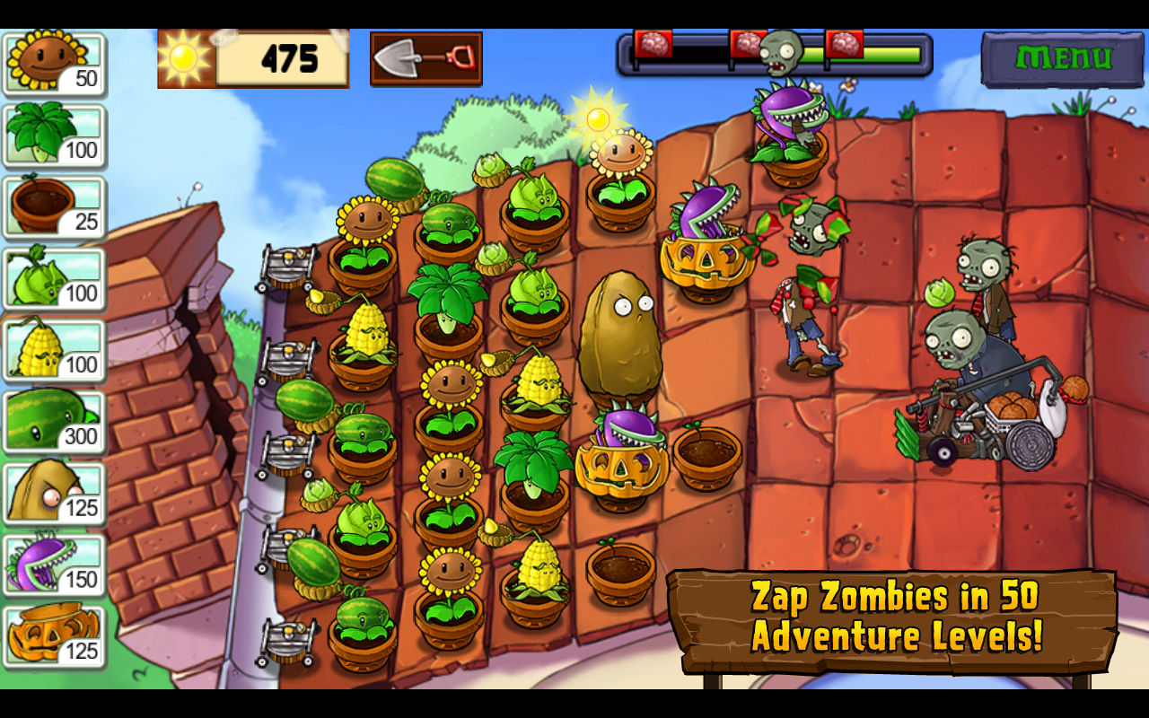 Plants vs. Zombies – zrzut ekranu