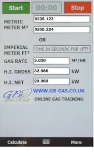 Gb-Gas heat input Calculator- screenshot thumbnail