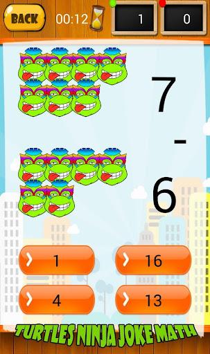 Turtles Ninja Joke Math
