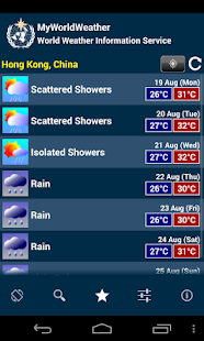 MyWorldWeather - screenshot thumbnail