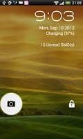 Screenshot of JellyBean Free Lock screen
