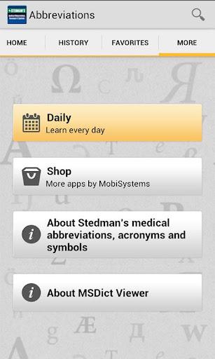 Stedmans Med Abbreviations TR