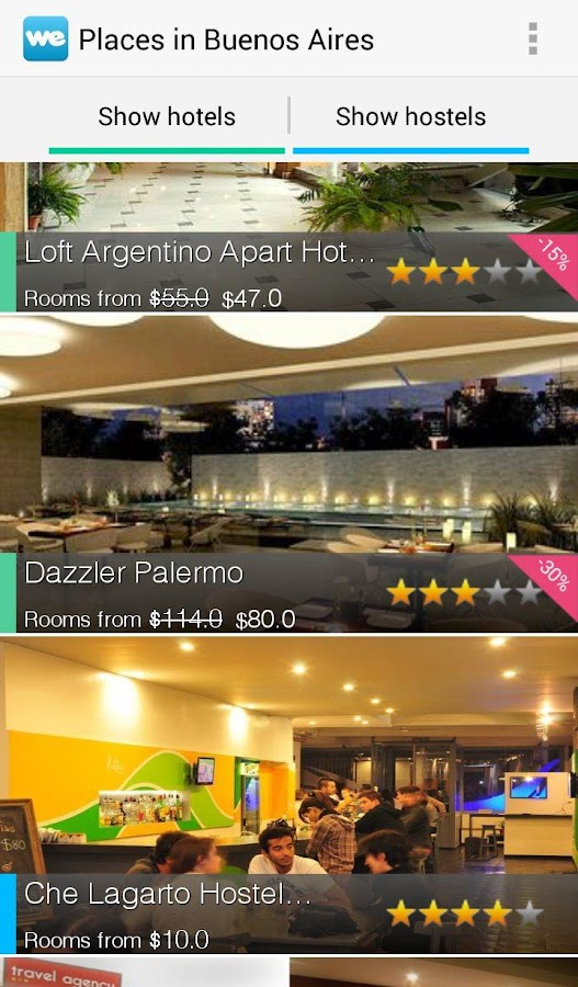 WeHostels - Hostels & Hotels - screenshot