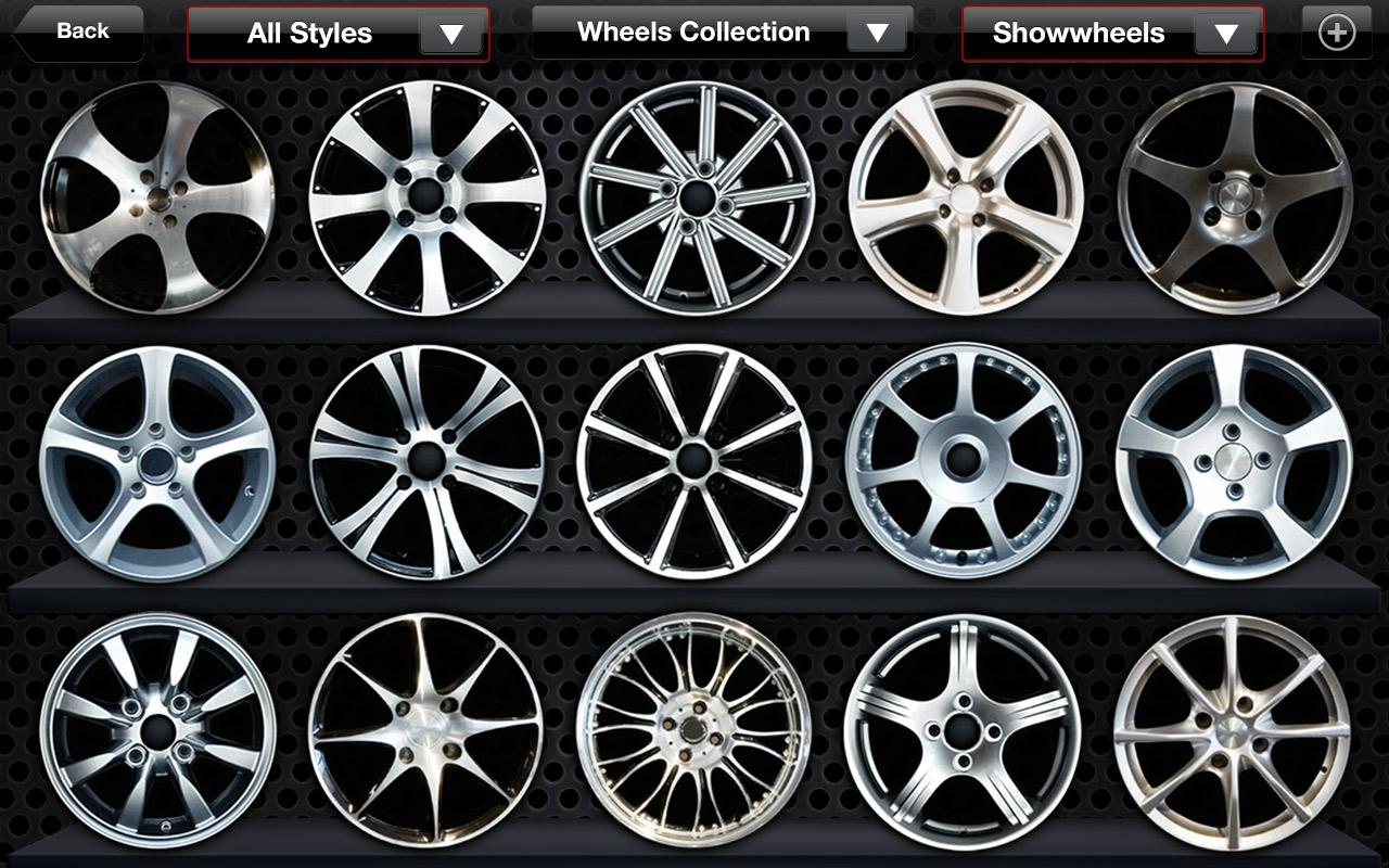 Wheels on screenshot