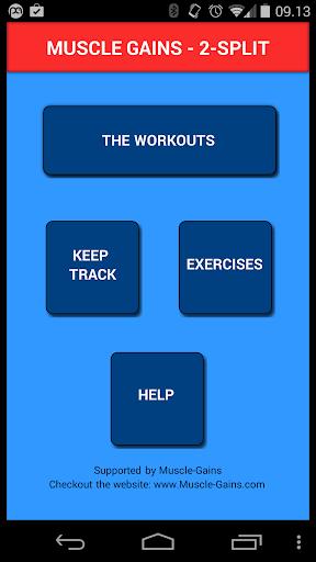 Muscle Gains 2-split training