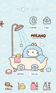 bubble shower molang