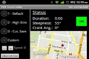 Screenshot of FES Cycling Controller