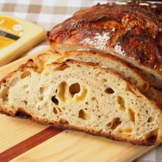 No Knead Asiago Bread