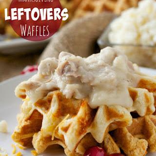 Thanksgiving Leftover Mashed Potato Waffles