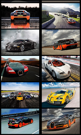 3D Bugatti Racing Wallpaper