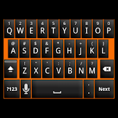 Black Orange Keyboard Skin