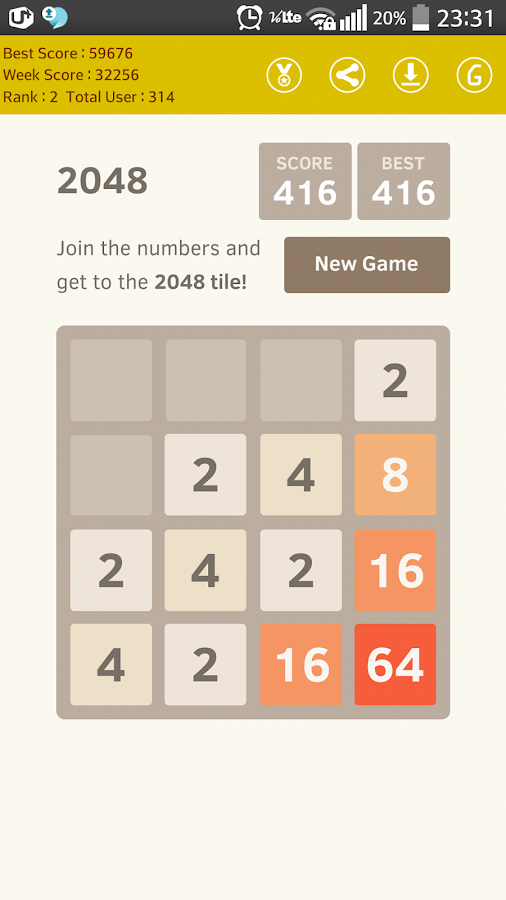 2048 Number Puzzle Online ORG - screenshot