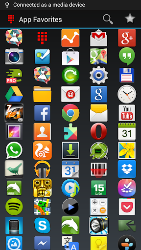 Most used apps widget
